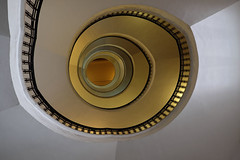 Lift off (Tilemachos Papadopoulos) Tags: qoq antiquity urban fuji fujifilm fujinon indoors infrastructure pattern athens architecture abstract structure greece shape xt1 mirrorless spiral staircase stairs colour