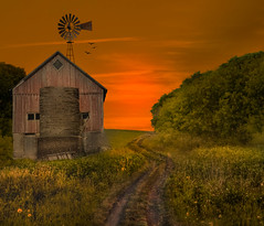 Moments To Shine (henryhintermeister) Tags: barns minnesota oldbarns clouds farming countryliving country sunsets storms sunrises pastures nostalgia skies outdoors seasons field hay silos dairybarns building architecture outdoor winter serene grass landscape plant cloudsstormssunsetssunrises cambridge