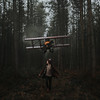 Autopilot (Adam Bird Photography) Tags: adambirdphotography adambird woods forest flickr explore photoshop running conceptual portrait square narrative story storytelling fairytale giant prop scale cinematic timwalker