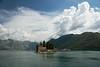 Perast. Island of Saint Geogria (Сергей Рсавин) Tags: montenegro perast landscape people sky sand sea bay boat