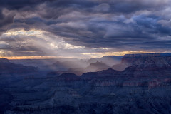 Sunset at Navajo Point, South Rim Grand Canyon, Arizona (diana_robinson) Tags: illumination streamsoflight grandcanyon nikon iconic steps stairsteps dramaticsky abigfave grandcanyonnationalpark lightstreams canyon sunset navajopoint southrimgrandcanyon arizona