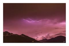 All of a sudden. (Anscheinend) Tags: storm thunderstorm alps alpen alpi alpes weather sky clouds cloud lightning blitz gewitter purple nature natur landscape paysage paesaggio paisagem night lowlight mountains montagne hiking wandern spring