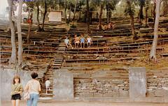 Ancient amphitheater, Limenas, Thassos. 1983.