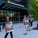 Protesting McDonald's Animal Cruelty Practices Outside Hamburger University West Randolph Street Chicago Illinois 5-24-18  1550 thumbnail