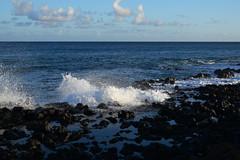 DSC33_18367 (heartinhawaii) Tags: sunset sea seaspray shore splash seasplash lavarocks poipu poipubeachpark settingsun kauai hawaii nature seascape nikond3300