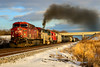 Smokey Treat (sdl39hogger) Tags: cp canadianpacific watertownsub dh delawareandhudson ge generalelectric ac4400cw emd electromotivedivision gp382 watertown wisconsin sunset canon canont6i