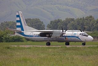 UP-AN416, Antonov An-24V SCAT Air @ Almaty ALA UAAA