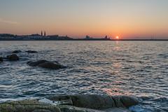 Sunset - DSC_0324 (John Hickey - fotosbyjohnh) Tags: 2018 dublin may2018 sandycove sunset sky seascape dunlaoghaire dunlaoghaireharbour dunlaoghaireeastpier fortyfoot sea coast rocks sun irishsea nikon