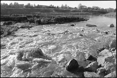 Halistenkoski (J Saari) Tags: bw reproduction film turku finland spotmatic spotmaticspii kodak m42 100tmx tmax halinen halistenkoski water smctakumar takumar2835 aurajoki river aura riveraura