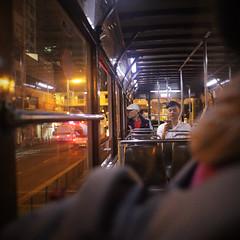 Hong Kong (peter.heindl) Tags: hong kong hongkong night street causeway bay tram ding dingding