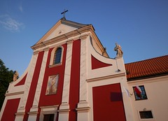 Red Church in Lublin (roomman) Tags: 2018 lublin city town weekend trip church red building holy