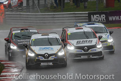 Clio Cup - R2 (3) 4 way battle mid pack (Collierhousehold_Motorsport) Tags: clio cliocup renault renaultclio pyro wde matrixmotorsport westbourne barc msv brandshatch michelin