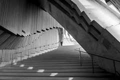 Interior, Sydney Opera House NSW Australia (Chicago_Tim) Tags: architecture building interior modern sydney opera house theater concrete ceiling beams stairs