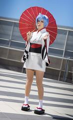 _MG_7401 (Mauro Petrolati) Tags: rei ayanami romics 2018 cosplay cosplayer kimono matsuri yukata version giorgia best girl first children neon genesis evangelion