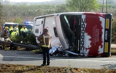Bus crash in Bulgaria kills 6 people, injures 22 (dailybrian) Tags: blacksea bulgaria bulgariabulgarian bulgarianauthorities driver passengerbus sofia vehiclefreginalsesp