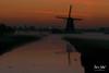 Sunrise Aarlanderveen (M van Oosterhout) Tags: sunrise sun zonsopkomst nederland netherlands holland dutch alphen aan den rijn aarlanderveen windmill molen