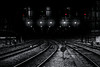 Paddington Nights (Danny Shrode) Tags: tracks train london paddington night blackbackground blackandwhite railroad aoi elitegalleryaoi bestcapturesaoi aoi3levels