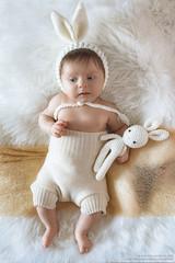 Happy Easter from Elisa (antoniopedroni photo) Tags: newborn easter rabbit conigliettopasquale babygirl babies baby bambina