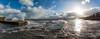 (ianrwmccracken) Tags: sunshine nikon high sigma pier water splash panorama breakwater waves windy sky blue fife scotland d7100 shore cloud ianmccracken tide riverforth sea dysart coast contrejour rough