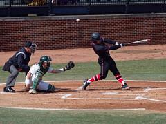 Fouled it Off (joeldinda) Tags: collegiate rutgersscarletknights ballpark leagues 2018 michiganstatespartans msuspartans omd em1ii 4067 march em1 omdem1mkii olympus