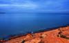 Early Ocean Blues (henriksundholm.com) Tags: nature horizon ocean sea water waterscape costablanca coast rock shadows dawn froth hdr landscape alicante espana spain