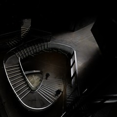 Small London Staircase (aha42   tehaha) Tags: uk england london people stairs staircase 500x500 square tobox book