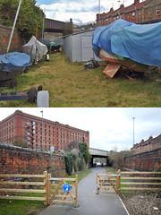 Avon Crescent 2003 and 2018 (weirdoldhattie) Tags: bristol beforeandafter thenandnow railway disused