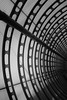 Concentric (That James) Tags: arches rings minimal structure structural engineering distance architect bridge footbridge abstract blackandwhite poplar london england uk britain dlr station overpass tunnel glass steel beams curved curves concentric sky skywalk