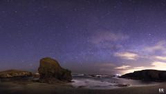 Praia de Ponzos (Ferrol) (albertoleiras) Tags: canon1740f4l canon6d panoramica praiasantacomba nocturna vialactea milkyway galicia acoruña land mar seda sedas ponzos ferrol