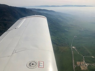 Flying up to Tehachapi, CA