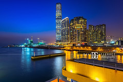 Blue & Gold - Hong Kong (davidgutierrez.co.uk) Tags: london photography davidgutierrezphotography city art architecture nikond810 nikon urban travel color night blue photographer tokyo paris bilbao hongkong uk hong kong people londonphotographer skyscraper 香港 홍콩 гонконг colors colours colour beautiful cityscape davidgutierrez capital structure ultrawideangle afsnikkor1424mmf28ged 1424mm d810 street arts bluesky vivid vibrant design culture landmark icon iconic worldicon reflections dusk bluehour asia modern contemporary metropolitan metropolis icctower skyscrapers skyline internationalcommercecentre westkowloon