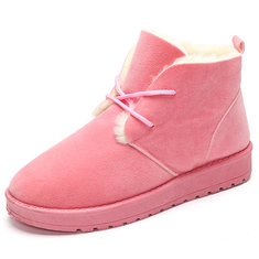 Pure Color Lace Up Wool Fleece Lining Short Snow Boots (1094978) #Banggood (SuperDeals.BG) Tags: superdeals banggood bags shoes pure color lace up wool fleece lining short snow boots 1094978