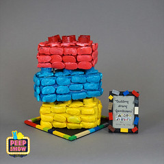 128-Building Strong Foundations (Carroll Arts Center) Tags: carroll county arts council 2018 peepshow a display marshmallow masterpieces featuring more than 150 sculptures dioramas graphic oversized characters mosaics created inspired by peepsâ®