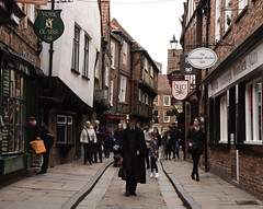 A ghostly figure in the Medieval street. (Mark240590) Tags: