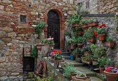 Montecerboli (Julysha) Tags: montecerboli italy toscana town house 2013 may spring travel pots flowers wall d800e nikkor247028 captureone