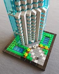 Bank Tower MOC base (betweenbrickwalls) Tags: lego afol moc nanoscale skyscraper building tower architecture