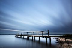 Blue Time (Tony N.) Tags: danemark denmark vejlefjord hedensted pier broenerglat ponton poselongue longexposure evening soirée sky ciel filé vanguard nikkor1635f4 nikon d810 tonyn tonynunkovics jetée pont eau mer lignes