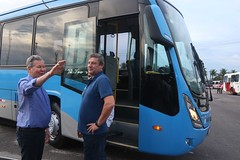 26.05.2018 Prefeito Arthur Neto durante visita nas garagens de ônibus
