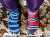Odd socks for autism 2 (allybeag) Tags: xperia phone phonepic socks stripy mismatchedsocks oddsocks autism