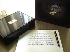 """Photo shoot for the Pen Boutique (Tony Roman Photography) Tags: things stilllife leicamtyp240 montblanc tabletop """"fountainpen"""" nibs 35mm"""