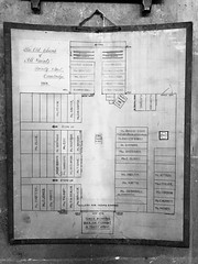 Old Cambridge All Saints (badger_beard) Tags: all saints jewry cambridge plan layout document trinity street 1864 cambridgeshire cambs south history church jesus lane cct thecct churches conservation trust 19th century victorian city george bodley