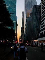 manhattan henge 42nd street (m_big_b) Tags: 7dwf sunset nyc 42 manhattanhenge