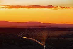 Early Morning Traffic Jam at Darling on the BNSF (Ray C. Lewis) Tags: bnsf seligmansub darling arizona sunrise scenic transportation trains railroad view burlingtonnorthernsantafe northernarizona canon photography railfanning