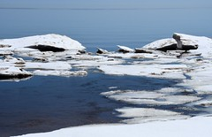 Spring Thaw (B2 Photography) Tags: spring ice lake iceformations thaw michigan lakemichigan up snow