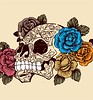 Sugar Skull with Roses T-shirt Design Vector (stockgraphicdesigns) Tags: anatomy antique body bone classic cranium danger dayofthedeadskull dead death decor decoration decorative dirty evil fashion floral floralskull flourish flowerskull flowers gothic grunge halloween horror human leaf leaves mexican mexicanskull motif old ornaments retro rose rust scary skeletal skull skullflower smartpack14 splatter spooky style sugarskull tattoo tradition traditional vintage zombie