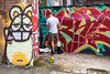 Bristol; May 2018 (Daniel Durrans) Tags: crutches brokenleg plastercast street peeing graffiti youthoftoday youthculture wee thatchershaze urban thatchers candid canpubphoto cider bristol urinating streetphotography stokescroft publicurination graffitiart raveonavon barelegs