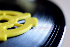 Plastic and vinyl [16/52] All Things Analog (Mrs. Trusty) Tags: week162018 52weeksin2018 weekstartingmondayapril162018 record 45rpm macromondays plastic analog