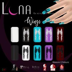 LUNA Body Art Wings Nails (♛MISS V♛ VENEZUELA 2014♛MissVeroModero2013) Tags: lunabodyart nail manicure pedicure slink maitreya belleza vistabento tuty nailpolish