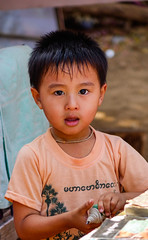 Portrait of Burmese boy (phuong.sg@gmail.com) Tags: asia asian bagan beautiful boy burma burmese child country culture cute ethnic happy hmong house kid kind laos local look mandalay minority myanmar outdoor people person play poor portrait poverty rural scene simple small smile tourism tradition traditional travel tribe vietnam village yangon young