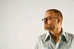 Stock Images (perfectionistreviews) Tags: color horizontal portrait indoors caucasian male person eyewear eyeglass recedinghairline facialhair beard profile posed onepersononly midadultman 3540years man headandshoulders copyspace men photograph people